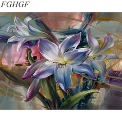 Paint By Numbers Lily Flowers 40x50