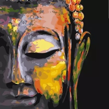 Paint By Numbers Buddha In Peace 40x50 - Leveranstid 1-3 Dagar