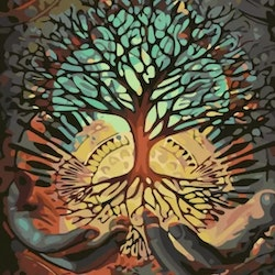 Paint By Numbers Tree Of Life 40x50 - Leveranstid 1-3 Dagar