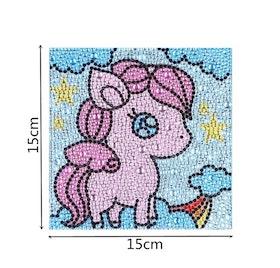 Diamanttavla Med Ram Pink My Litle Pony 15x15