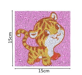 Diamanttavla Med Ram Tiger 15x15