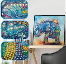 Diamanttavla Special Cute Color Elephant 30x30