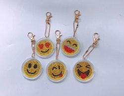 SNART I BUTIK - Nyckelringar Smileys 5-Pack