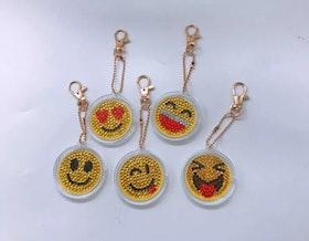 Nyckelringar Smileys 5-Pack