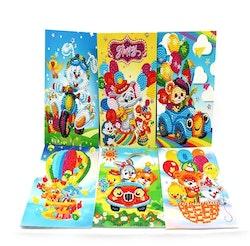 Födelsedagskort Funny 6-Pack