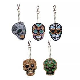 Nyckelringar Döskallar 5-Pack