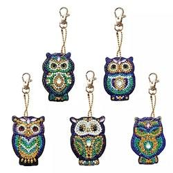 Nyckelringar Blue Olws 5-Pack