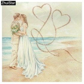 Diamanttavla Loving Couple 50x50