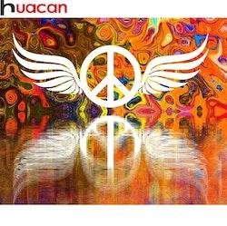 Diamanttavla Peace Wings 40x50
