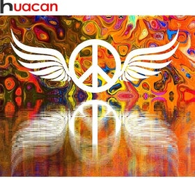 Diamanttavla Peace Wings 40x50