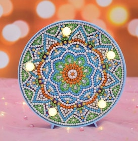 Diamond Painting Ledlampa Mandala Bright