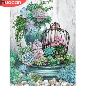 Diamanttavla (R) Garden Flower 40x50