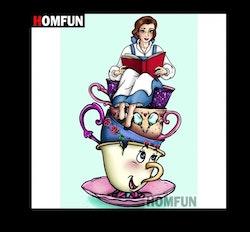 Diamanttavla Cartoon Princess Cup 30x40