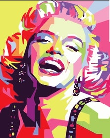Paint By Numbers Color Marilyn 40x50