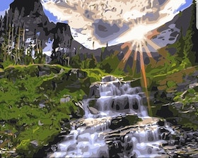 Paint By Numbers Mountain Waterfall 40x50