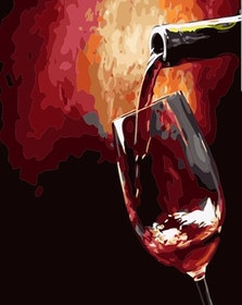 Paint By Numbers Wine 40x50