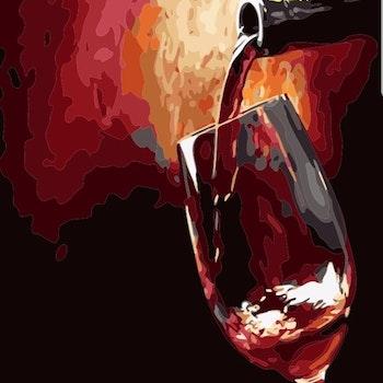 Paint By Numbers Wine 40x50- Leveranstid 1-3 Dagar