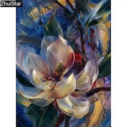 Diamanttavla Painted Flower 30x40