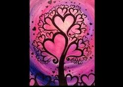 Diamanttavla Love Tree 30x40