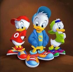 Diamanttavla Cartoon Ducks 40x40