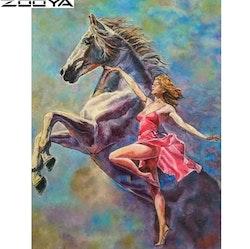 Diamanttavla (R) Dancing With Horse 40x50