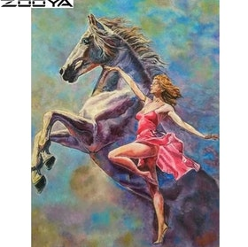 Diamanttavla (R) Dancing With Horse 40x50