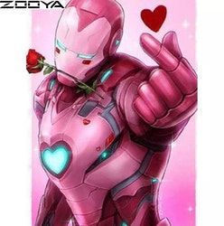 Diamanttavla Love Hero 40x50
