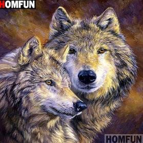 SNART I BUTIK  - Diamanttavla Wolf Animals 50x50
