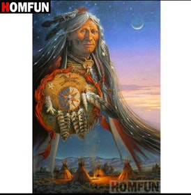 SNART I BUTIK  - Diamanttavla The Wise Indian 40x50