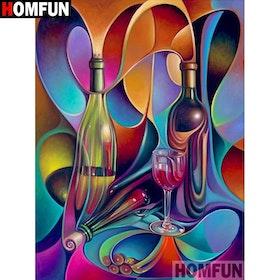 Diamanttavla Color Wine 40x50