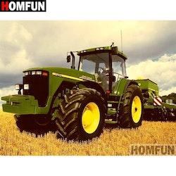 Diamanttavla Stor Traktor 40x50