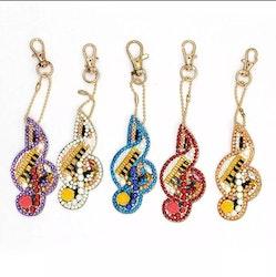 Nyckelringar Music 5-pack