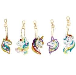 Nyckelringar Unicorn 5-Pack
