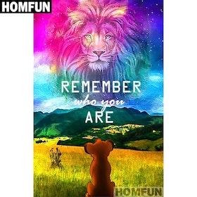 Diamanttavla Remember Me Lion 50x70