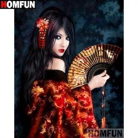 Diamanttavla Geisha Beauty 40x50