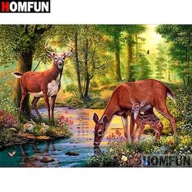 Diamanttavla Forest Deer 40x50