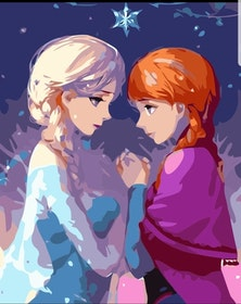 Paint By Numbers  Elsa Och Anna 40x50