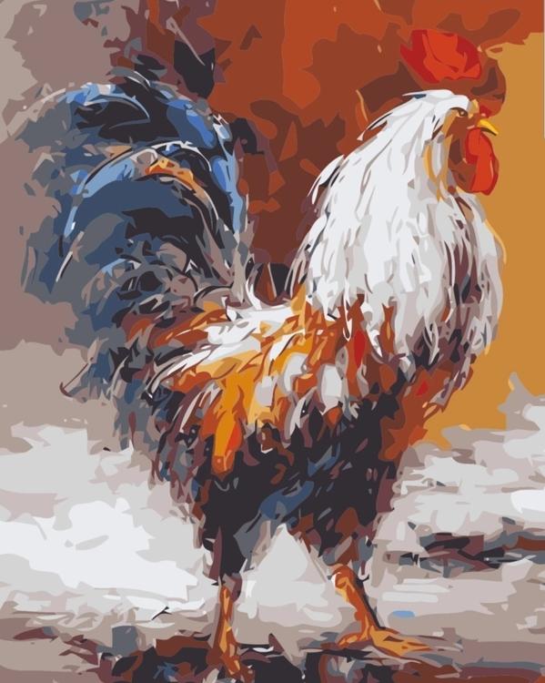 Paint By Numbers Ståtlig Tupp 40x50