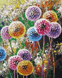 Paint By Numbers Colorful Dandelion 40x50