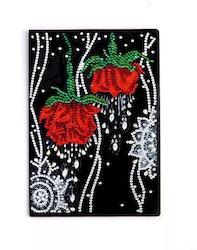 Diamanttavla Skrivbok Roses 64 sidor