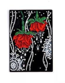 SNART I BUTIK - Diamanttavla Skrivbok Roses 64 sidor