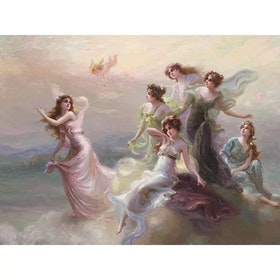 SNART I BUTIK - Diamanttavla Angels 50x70