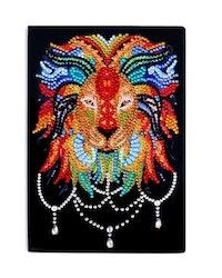 Diamanttavla Skrivbok Olinjerad Lion 64 sidor