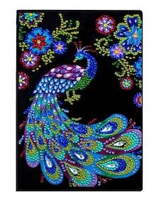 Diamanttavla Skrivbok Olinjerad Peacock 64 sidor