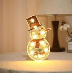 SNART I BUTIK - Diamanttavla Ledlampa Snowman