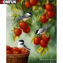 SNART I BUTIK  - Diamanttavla (R) Birds In Appletree 40x50
