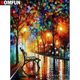 Diamanttavla Color Trees 30x40