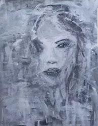 Diamanttavla Miss Grey 40x50 Kollektion Av Anneli Johansson