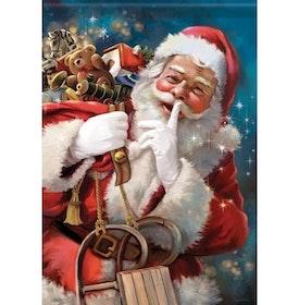 Diamanttavla Santa With Toybag 50x70