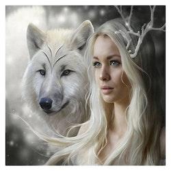 Diamanttavla Wolfwoman 50x50